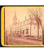 OLDTOWN MAINE 1870s PHOTO STEREOVIEW - Folsom Block Looking South #1 - $62.47