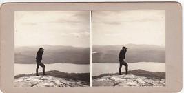 William Robert Carlton atop Mt. Major NH - Carlton-Boynton Family Stereo... - $19.75