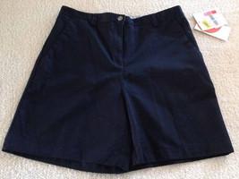Liz Claiborne Carefree Navy Shorts 100% Cotton Women's Size 10 - $19.99