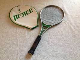 """Prince Tennis Racquet  Green with 4-1/2"""" Grip With Cover 14"""" X 11"""" - $39.99"""