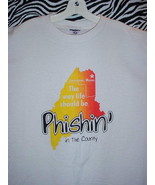 PHISH CONCERT T SHIRT ~ CREAM & ORANGE/LARGE - $24.95