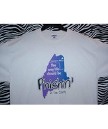PHISH CONCERT T SHIRT ~ CREAM & BLUE/LARGE - $24.95