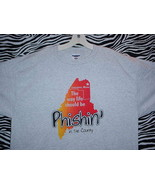 PHISH MAINE CONCERT T SHIRT ~ GRAY & RED Extra Large - $24.95