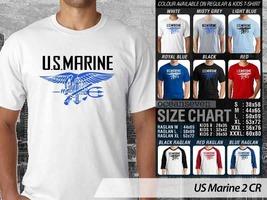 T Shirt U.S Marine Militer Theme Many Color  - $9.99+