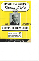 "SHEET MUSIC   1939  ""HASKEL W. HARR'S DRUM SOLOS"" - $4.95"