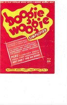 "SHEET MUSIC   1953   "" BOGGIE WOGGIE SIMPLIFIED  BY MAYFAIR MUSIC."" - $4.95"