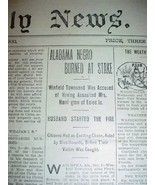 1900 NEWSPAPER LYNCHING ALABAMA NEGRO BURNED AT STAKE - $75.00