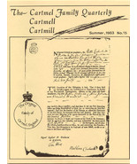 CARTMEL CARTMELL CARTMILL GENEALOGY NEWSLETTER SET - $85.00