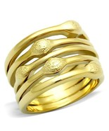 Women's 15mm Gold Tone Modern Fashion Wide Band Ring Size 5 -10 - $11.59