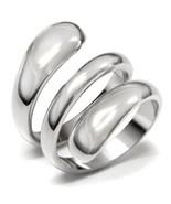 Women's Stainless Steel Modern Swirl Design Cocktail Fashion Ring Size 5-10 - $12.49