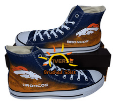 Painted converse sneakers, Denver Broncos, Bronco shoes, Handpainted shoes - $59.99+