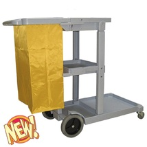 Janitor Cleaning Cart with Zipper Bag 25 Gallon Grey - $169.80