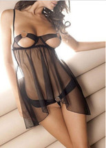541L072 Sexy lace ftop with open bust , size free size, black - $18.80