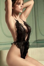 541L092 Sexy sheer net teddy,free size, black - $18.80