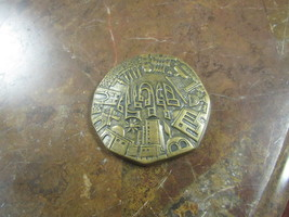 BUCKLER LTD  BELT BUCKLE  HAND MADE IN ISRAEL   JERUSALEM P210     - $19.50