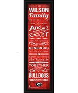 "Personalized University of Georgia ""Bulldogs""-24 x 8 ""Family Cheer"" Fram... - $39.95"
