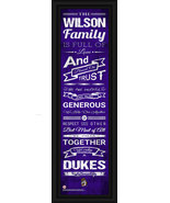 "Personalized James Madison ""Dukes"" - 24 x 8 ""Family Cheer"" Framed Print - $38.95"
