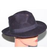 NEW AQUA Designer West Navy 100% Wool Classic Flap Small Brim Hat - $4.94