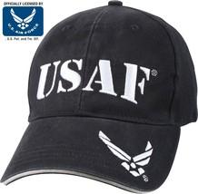 Navy Blue USAF US Air Force Adjustable Deluxe Baseball Hat Cap - $14.99