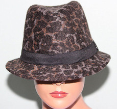 NEW Collection XIIX Eighteen Stonewash Grey Animal Fedora Hat NWT - $9.89