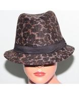 NEW Collection XIIX Eighteen Stonewash Grey Animal Fedora Hat NWT - $9.89