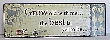 Primary image for Classic Postal Growing Old Rustic Antique Style Wall Art Sign Home Decor