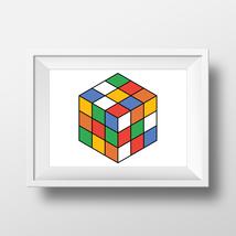 Rubiks cube - minimalistic geometric art - $5.00 - $50.00