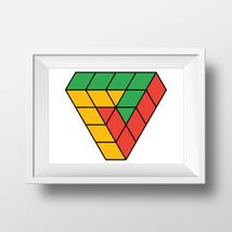 Penrose triangle cubes - minimalistic geometric... - $5.00 - $50.00
