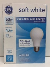 (New) GE 4PK 43W soft White Halo Bulbs, No 66247 - $9.89