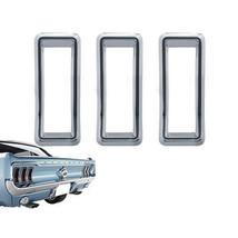 68 Ford Mustang Black & Chrome Tail Light Lamp Bezel Trim & Gasket Set of 3 1968 - $39.95