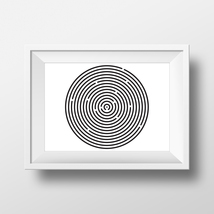 Labyrinth 001 - minimalistic geometric art - $5.00 - $50.00