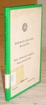 HENRY W. LONGFELLOW SESQUICENTENNIAL - Bowdoin College - $19.95