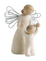 NEW 5-Inch Tall Beautiful Guardian Angel w/ Baby Figurine / Statue - $30.59
