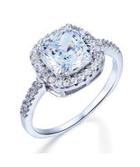 3 Carat Cushion Cut Created Diamond 925 Sterling Silver Wedding Engageme... - $99.99