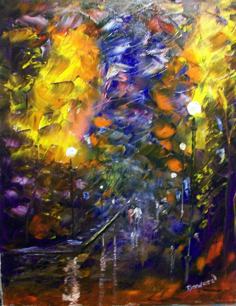 Modern Palette knife impressionism Painting