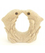 "SAND-DECO Sand Sculpture Dolphin Figurine Kissing Dolphins 2 5/8"" Tall B... - $12.59"