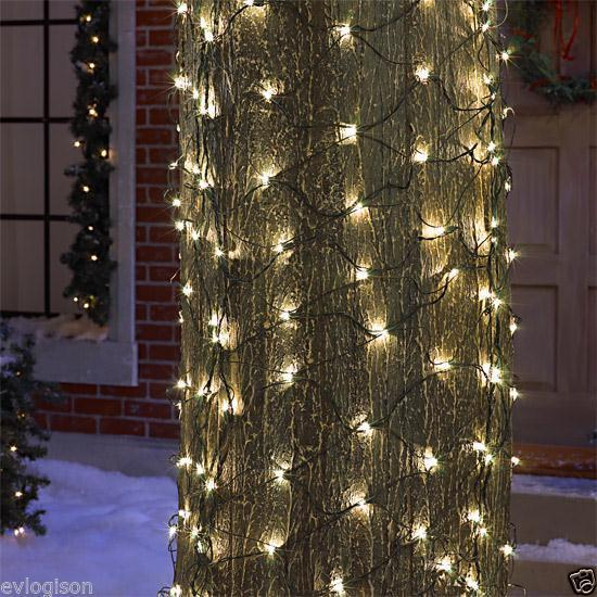 Tree trunk wrap net christmas clear lights