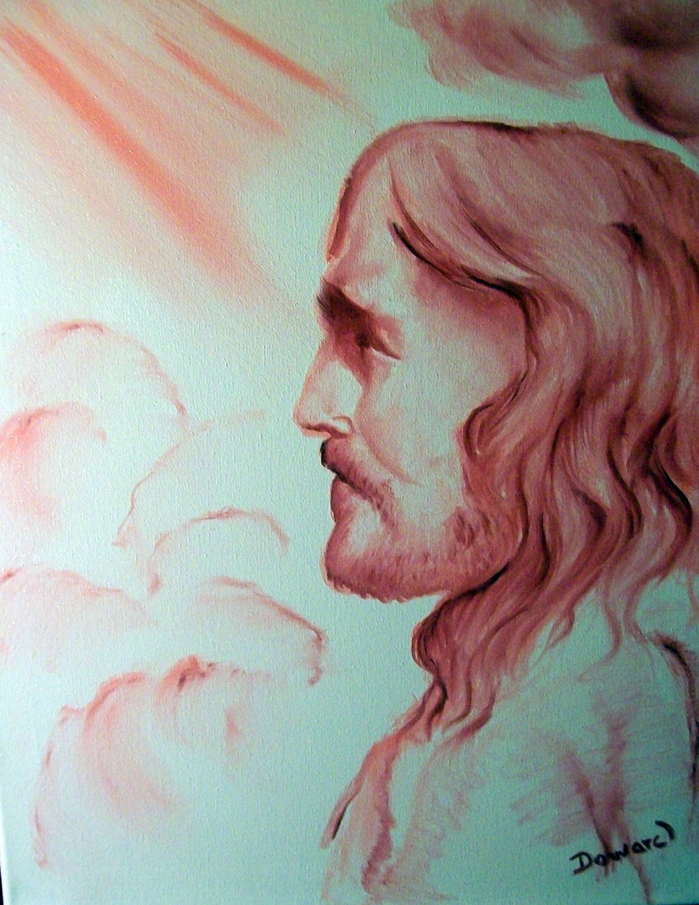 "Original Canvas Print "" 8x10 Christ in his glory"""