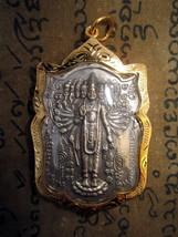 RARE! Gold Phra Chao-Perd-Lok Hundu God Narayana Pendant Lucky Buddha Amulets - $7.99