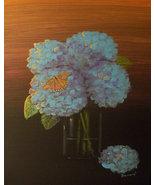 "Modern Contemporary Floral Canvas Print ""Hydrangeas"" - $19.00"