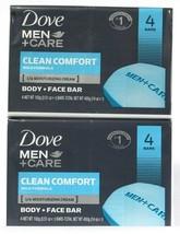 2 Packs Dove Men Care 14 Oz Clean Comfort Mild Formula Body & Face 4 Count Bar - $22.99