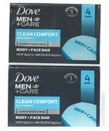 2 Packs Dove Men Care 14 Oz Clean Comfort Mild Formula Body & Face 4 Cou... - $22.99