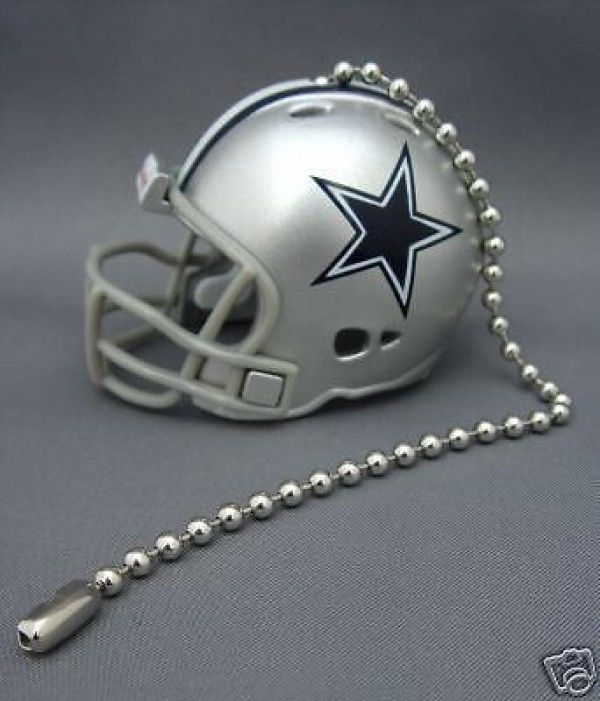 DALLAS COWBOYS CEILING FAN LIGHT PULL & CHAIN NFL FOOTBALL HELMET