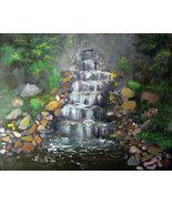 """Original 16x20 Acrylic on board """"The Waterfall"""" - $229.00"""