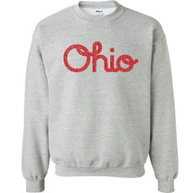 142 Ohio Script Crew Sweatshirt Pride college spirit sports state buckey... - $20.00+