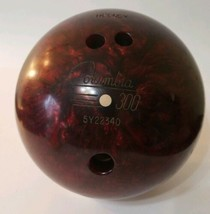 Vintage Columbia 300 White Dot 12lb Bowling Ball Shiny Glossy Red / Drilled - $15.99