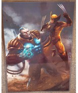 X-Men Apocalypse vs Wolverine Glossy Print 11 x 17 In Hard Plastic Sleeve - $24.99