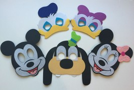 Mickey Mouse Birthday Masks 10 Piece Decorations Party Supplies Favors - $31.68