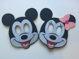 Mickey Mouse Birthday Masks 2 Piece Decorations Party Supplies Favors - $6.44