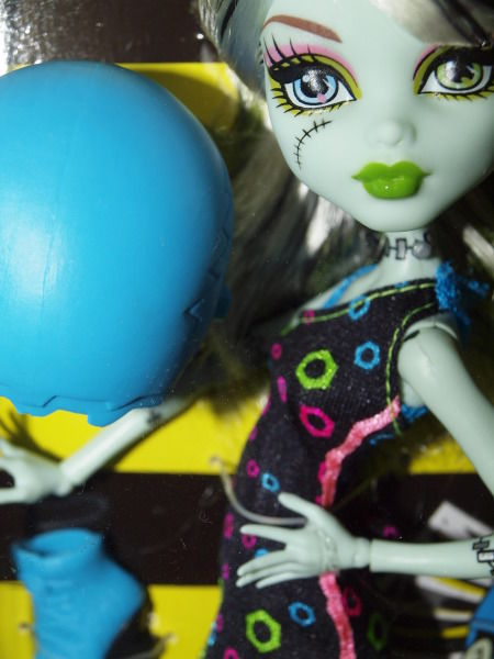 "Monster High Frankie Stein from the ""Skultimate Roller Maze"" collection"